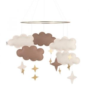 Mobiel Fantasy Clouds rose glow Baby Bello