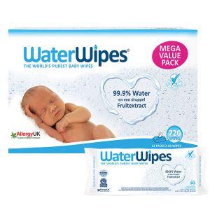 WaterWipes billendoekjes 12x60 stuks (720 doekjes)