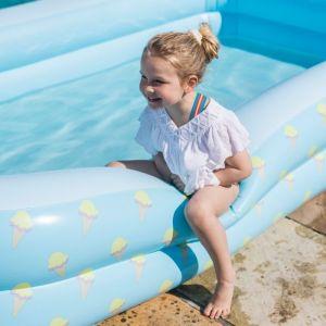 Opblaaszwembad ijsjes rechthoek (300cm) Swim Essentials