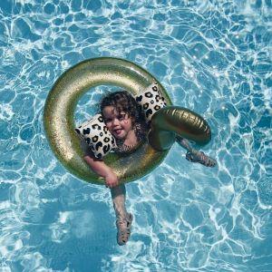Zwembandjes panter beige (0-2 jaar) Swim Essentials