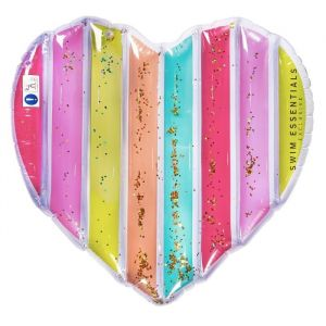 Luchtbed Rainbow Heart (150cm) Swim Essentials