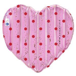 Luchtbed Pink Heart & Dots (150cm) Swim Essentials