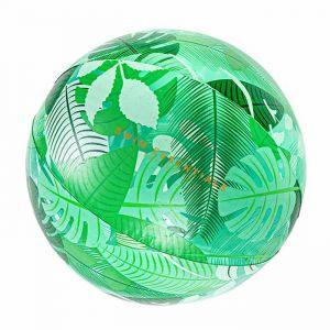 Opblaasbare strandbal tropical transparant Swim Essentials
