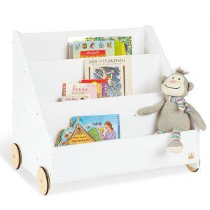 Boekenkast op wielen wit Pinolino