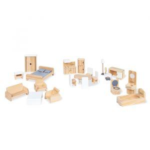 Houten poppenhuis meubeltjes (20-delig) Pinolino