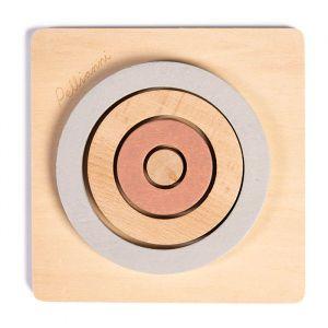 Houten puzzel cirkels dust-grijs Pellianni
