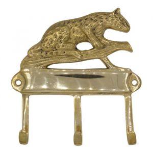 Kapstok Leopard goud 3 haken À La