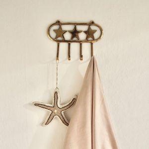 Kapstok Stars goud 4 haken À La