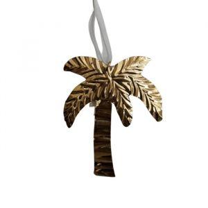 Kersthanger Palmboom brass goud À La