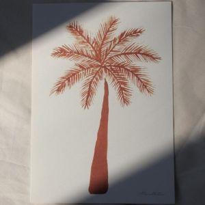 Poster Palmtree terra A4 À La