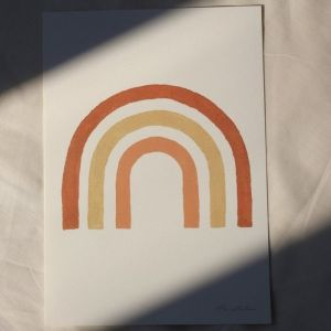 Poster Rainbow A4 À La