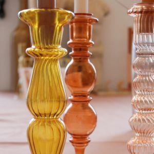 Kandelaar Classic Glass mustard À La