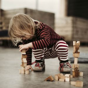 Houten stapelblokken naturel Wooden Story