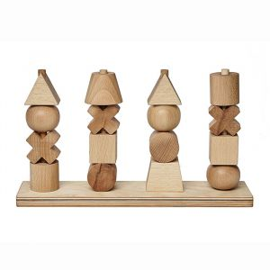 Houten stapelfiguren XL naturel Wooden Story