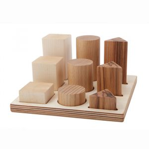 Houten vormenpuzzel 3D naturel Wooden Story