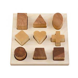 Houten vormenpuzzel naturel Wooden Story