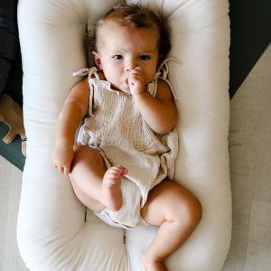 Snuggle Me Organic babynest/lounger naturel