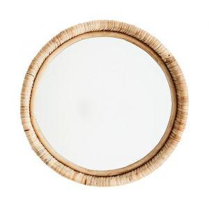Bamboe spiegel rond naturel Madam Stoltz