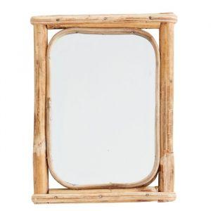 Spiegel bamboe rechthoek Madam Stoltz