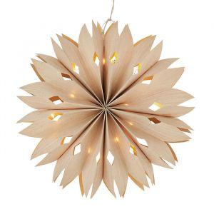Papieren ster met lichtjes naturel (40cm) Madam Stoltz