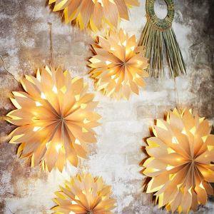 Papieren ster met lichtjes naturel (50cm) Madam Stoltz