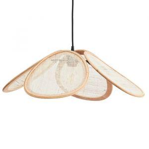 Rotan hanglamp met linnen naturel Madam Stoltz