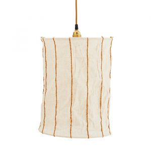 Hanglamp Striped off white/sugar almond Madam Stoltz