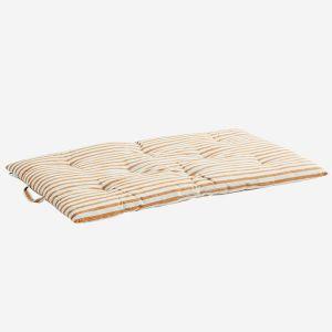 Speelmatras Striped dark honey (60x100cm) Madam Stoltz