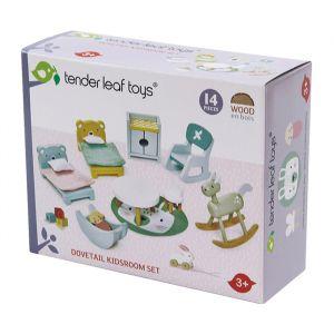 Houten poppenhuis kinderkamer Tender Leaf Toys