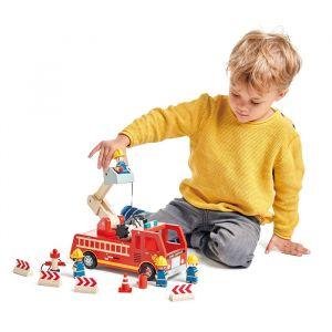 Houten brandweerwagen Tender Leaf Toys