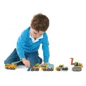 Houten bouwwagens Tender Leaf Toys