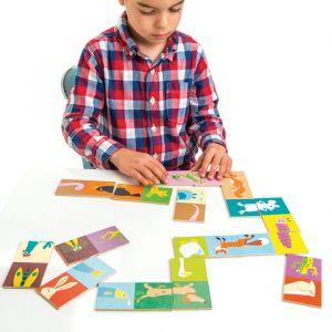 Domino dieren hout Tender Leaf Toys