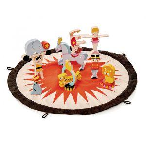 Houten stapelblokjes circus incl. opbergzak Tender Leaf toys