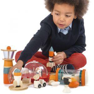 Houten ruimtestation speelset Tender Leaf Toys