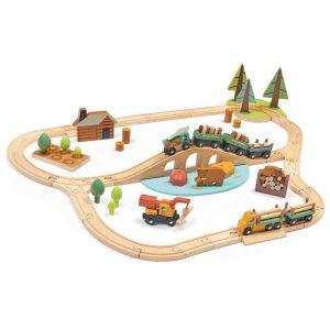 Houten treinspeelset Tender Leaf Toys