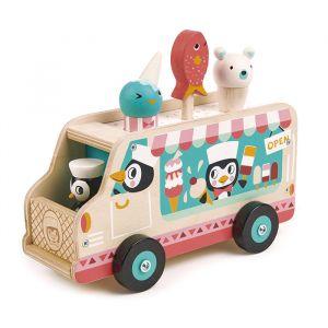 Houten pinguin ijskar Tender Leaf Toys