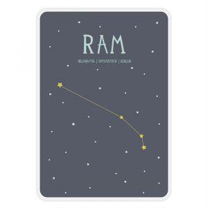 Sterrenbeeld mijlpaal bordje Ram Milestone