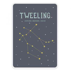Sterrenbeeld mijlpaal bordje Tweeling Milestone