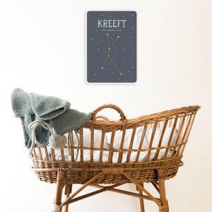 Sterrenbeeld mijlpaal bordje Kreeft Milestone