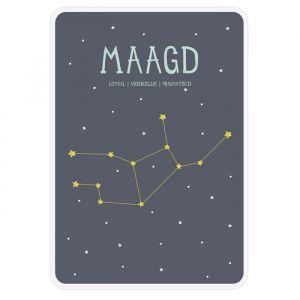 Sterrenbeeld mijlpaal bordje Maagd Milestone