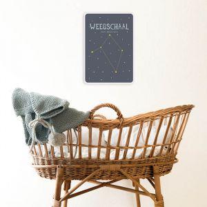 Sterrenbeeld mijlpaal bordje Weegschaal Milestone