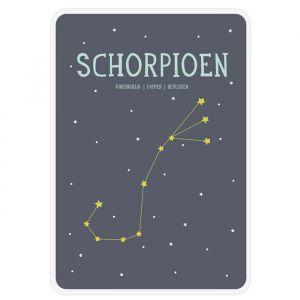 Sterrenbeeld mijlpaal bordje Schorpioen Milestone