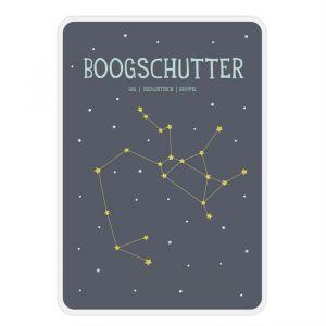 Sterrenbeeld mijlpaal bordje Boogschutter Milestone