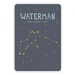 Sterrenbeeld mijlpaal bordje Waterman Milestone