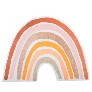 Placemats Rainbow Love roze-goud (4st)