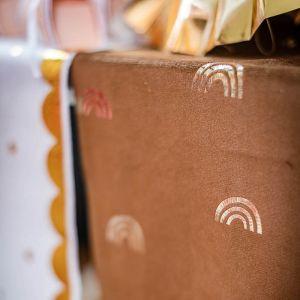 Tafelloper velvet caramel regenbogen