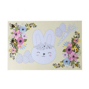 Papieren placemats Flower Bunnies (6st)