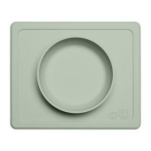 Siliconen kom met placemat Mini Bowl sage EZPZ
