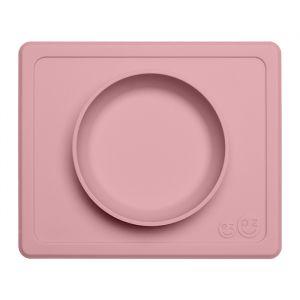 Siliconen kom met placemat Mini Bowl pink EZPZ