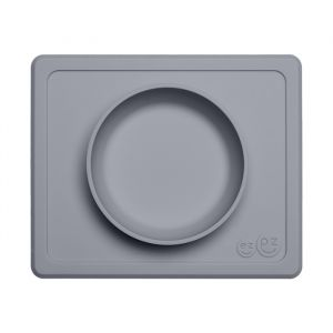 Siliconen kom met placemat Mini Bowl gray EZPZ